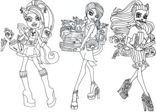 monster-high-coloring-page-collection